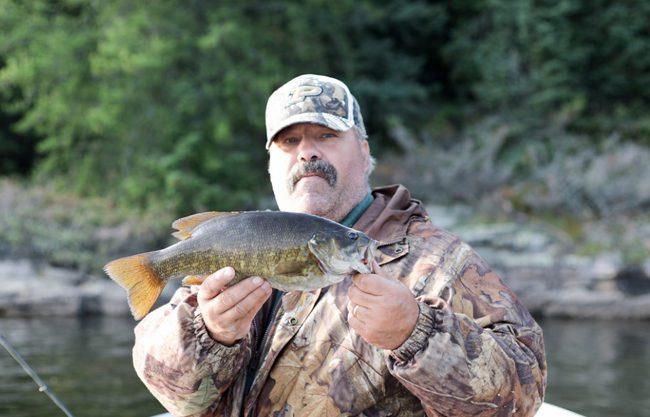 Outpost bass fishing at Brown Bear Lake